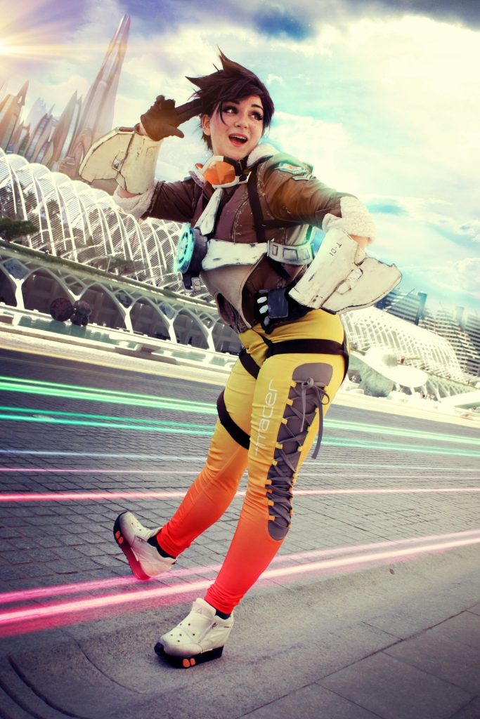 Shoot by Flor y Fali - Tracer cosplay by Luzbel d'Auvergne